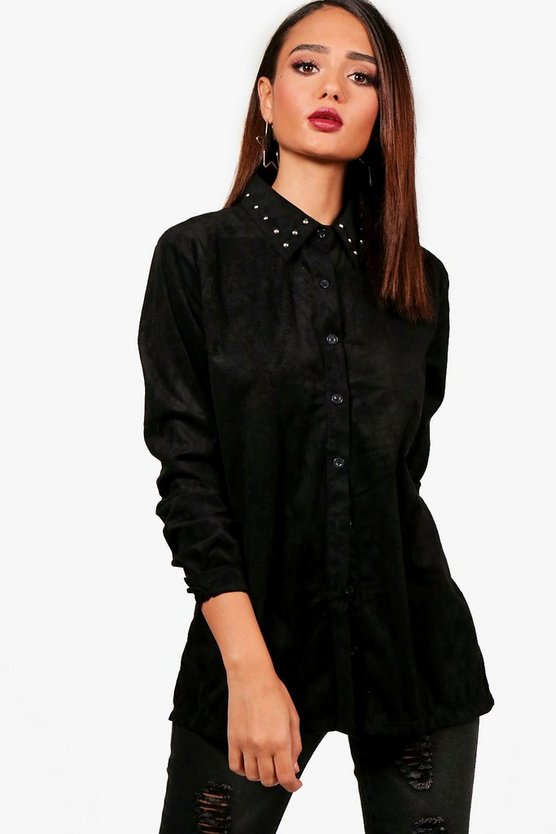 Studded Suedette Shirt