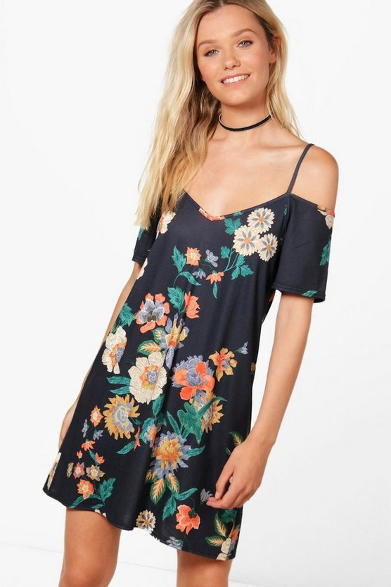 Jess Cold Shoulder Shift Dress