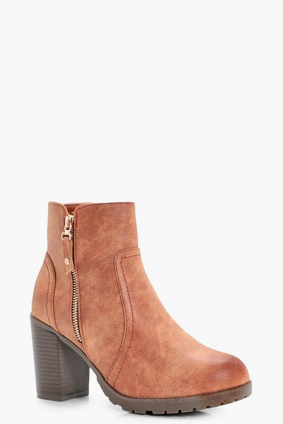 Emmeline Zip Side Heeled Boots