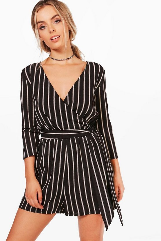 Strapped Wrap Over Playsuit