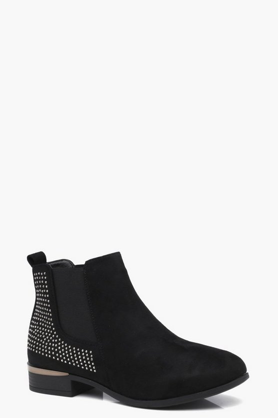 Diamante Trim Chelsea Boots
