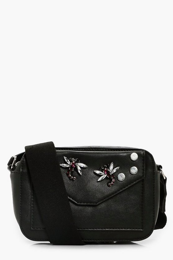 Womens Embellished Insect Camera Bag