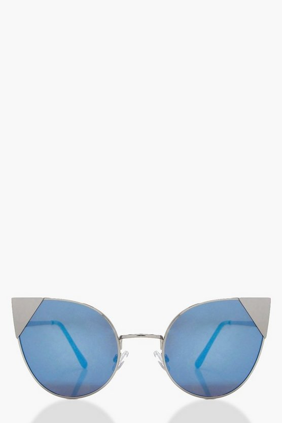 Ellie Blue Lens Cat Eye Sunglasses