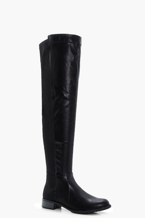 Diana Stretch Back Flat Over The Knee Boots