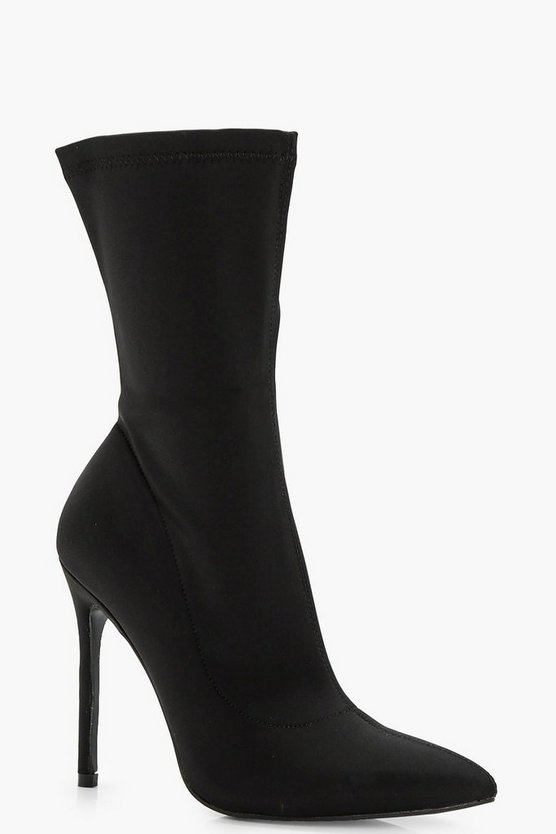 Stretch Over Ankle Sock Boots