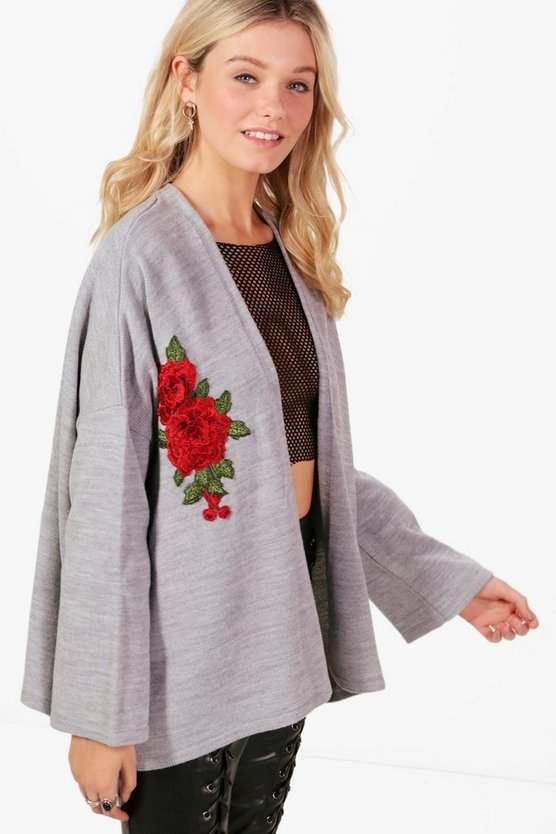 Eva Oversized Applique Cardigan