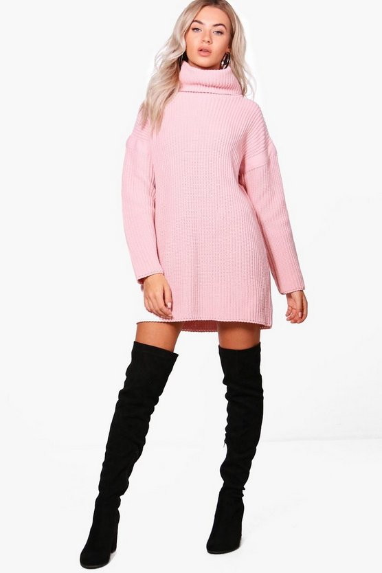Roll Neck Jumper Dress