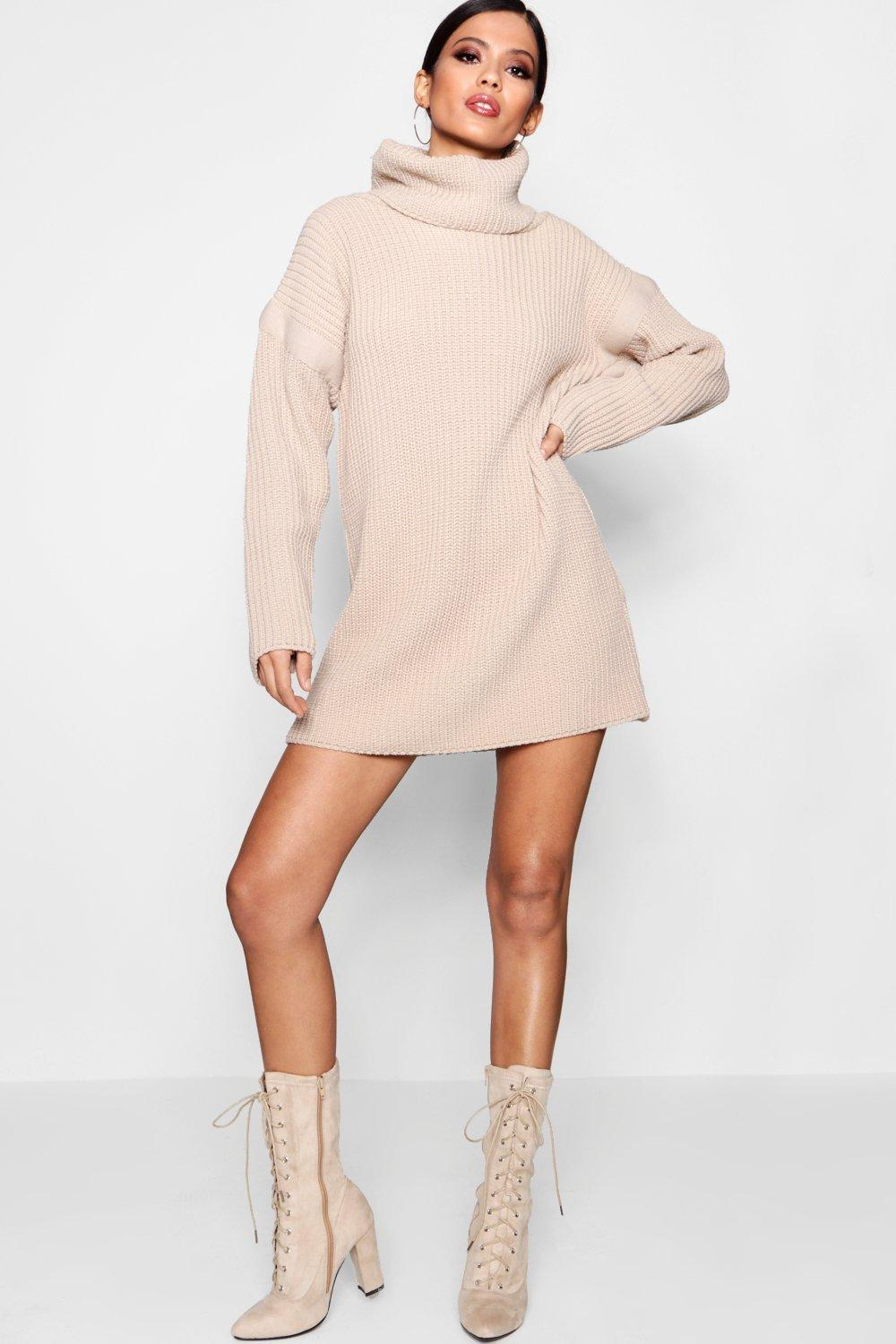 Jumper camel Roll Dress Dress Dress Neck camel Neck Roll Neck Roll Jumper Jumper RvwdTF