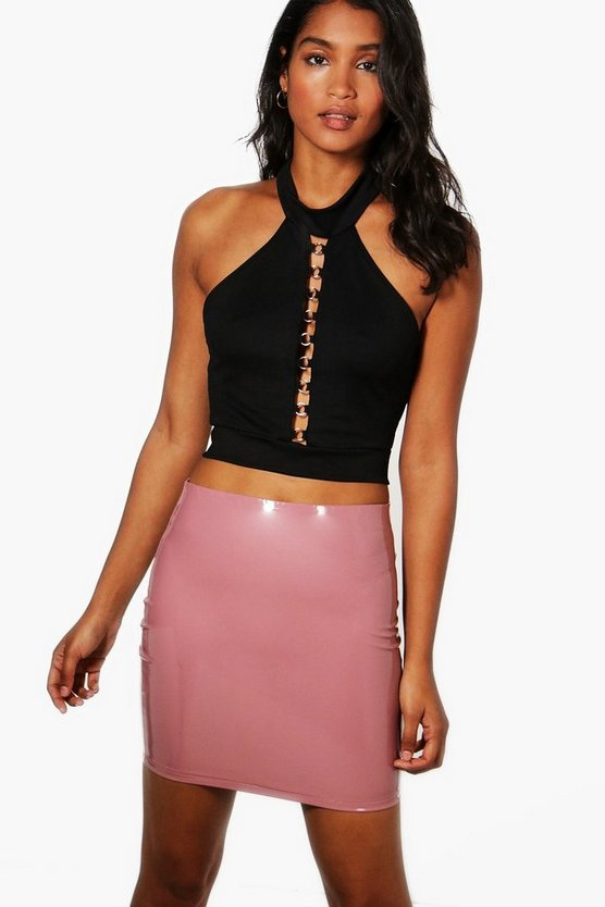 Rosie Vinyl Mini Skirt