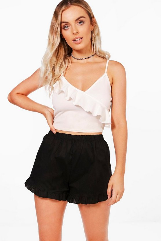 Louise Frill Button Shorts