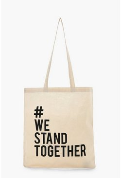 Womens Cream Charity Bag - Stand Together