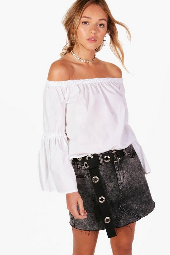 Harriet Woven Off The Shoulder Top
