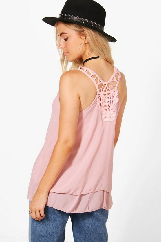 Crochet Back Cami