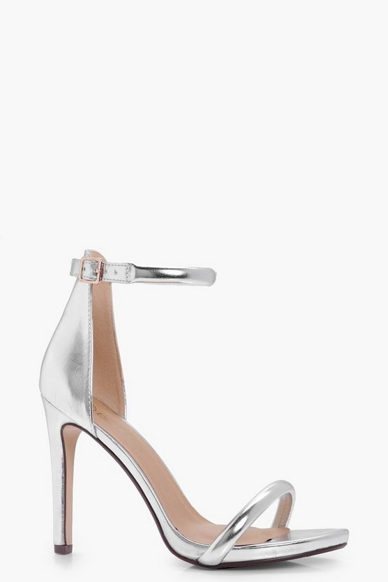 Wide Fit Metallic 2 Part Heels