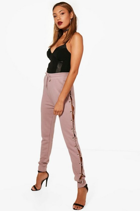 O Ring Split Side Luxe Sweat Joggers