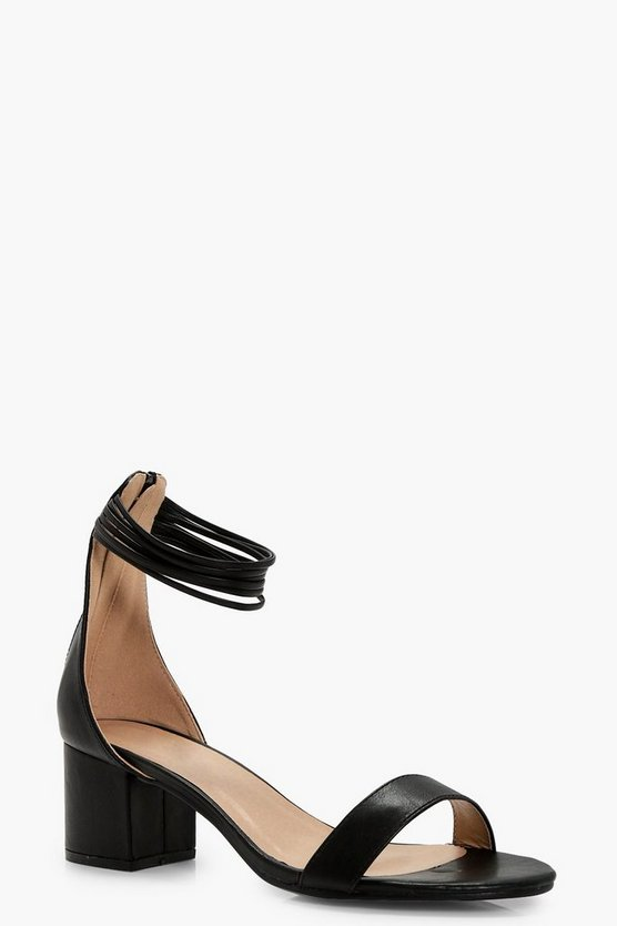 Alice Multi Ankle Band Block Heels