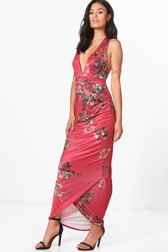 Holly Cross Strap Floral Maxi Dress