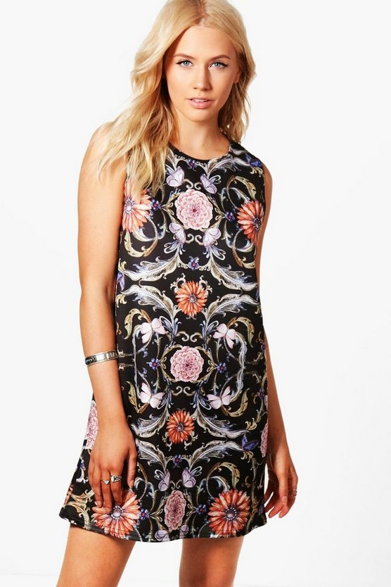 Millie Floral Print Shift Dress