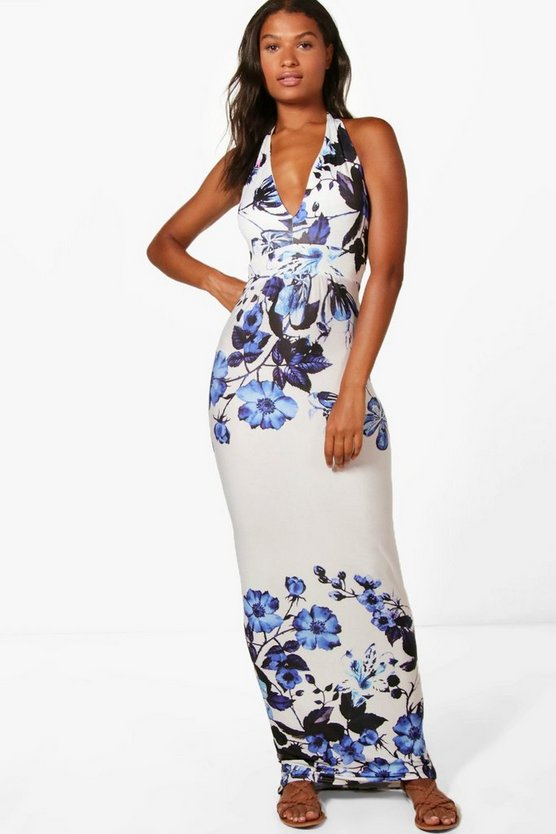 Sophie Floral Border Print Maxi Dress