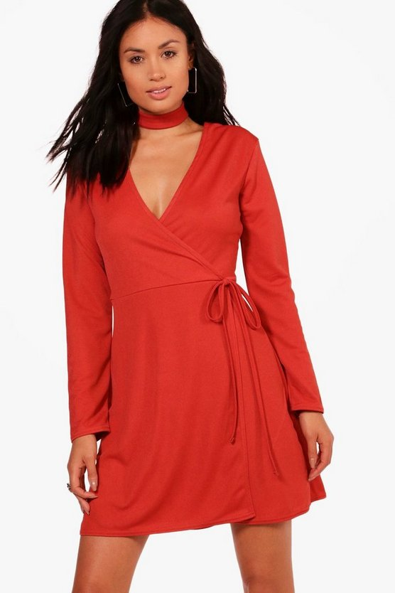 Choker Wrap Dress