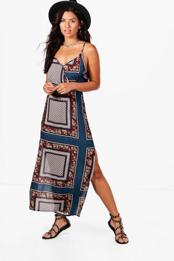 Georgia Racer Front Split Side Maxi Dress
