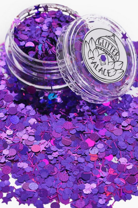 Womens Purple Halloween Glitter Palace Aretha Glitter Pot