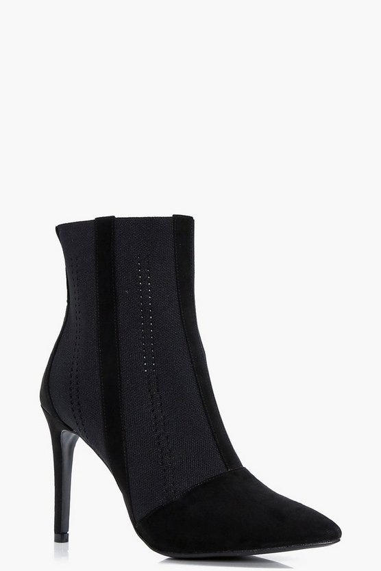 Gaynor Pointed Toe Sock Boots