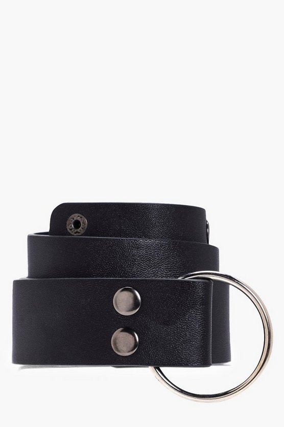 Emma O-Ring Popper Stud Boyfriend Belt