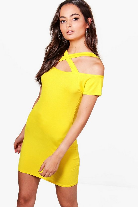 Natalie Cross Front Bodycon Dress