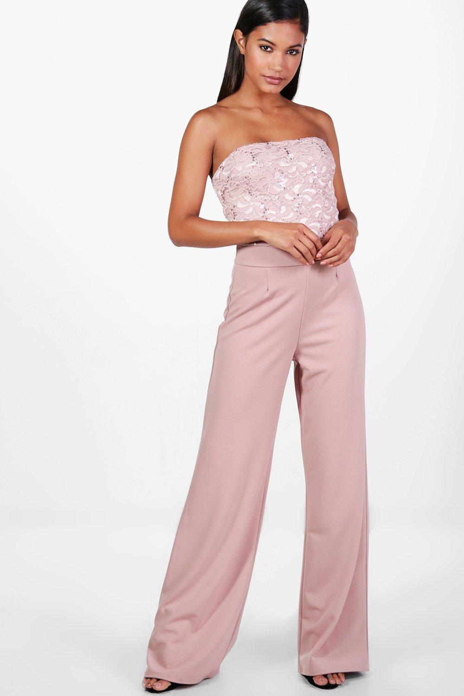 Boohoo Womens Gemma Boutique Wide Leg Sequin Jumpsuits | EBay