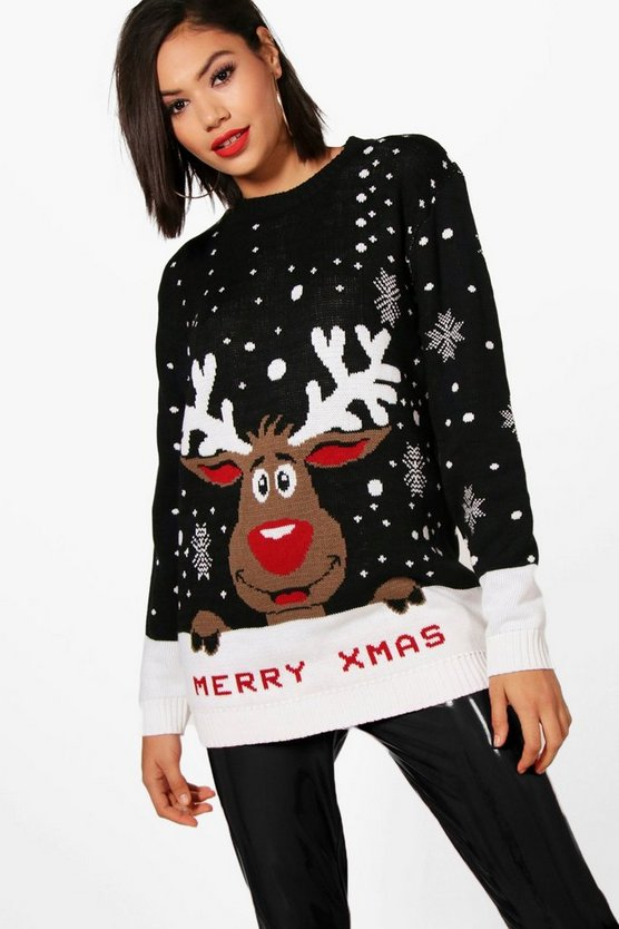 I Love Xmas Reindeer Christmas Jumper