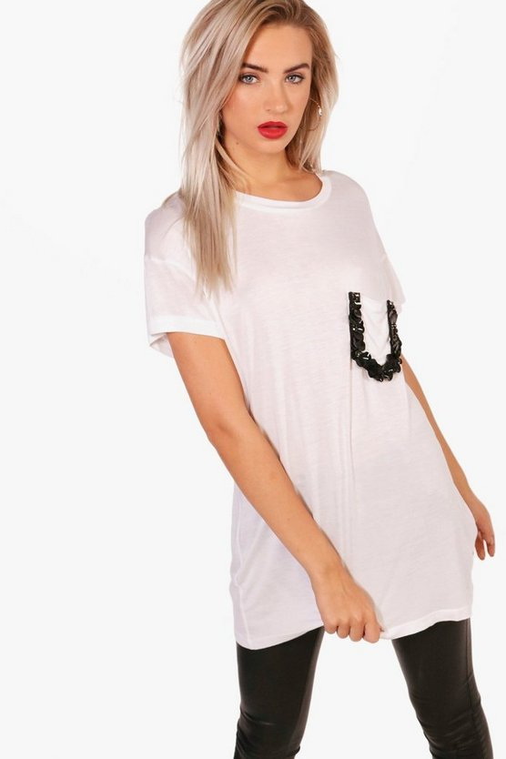 Sequin Pocket Tee