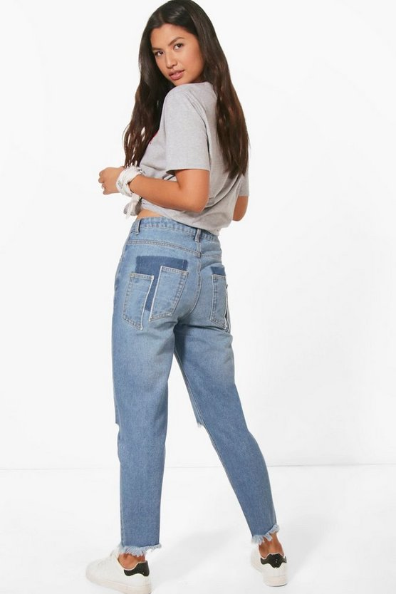 Sophie Split Pocket Mom Jeans