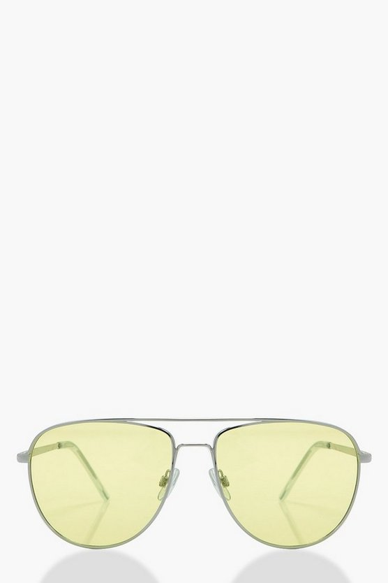 Edie Yellow Lens Aviators