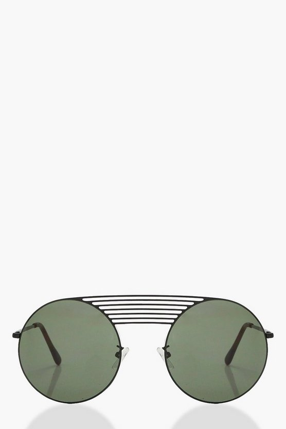 Grace Multi Bridge Round Sunglasses