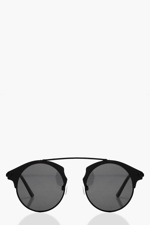 Amelie Brow Bar Metal Frame Sunglasses | Boohoo