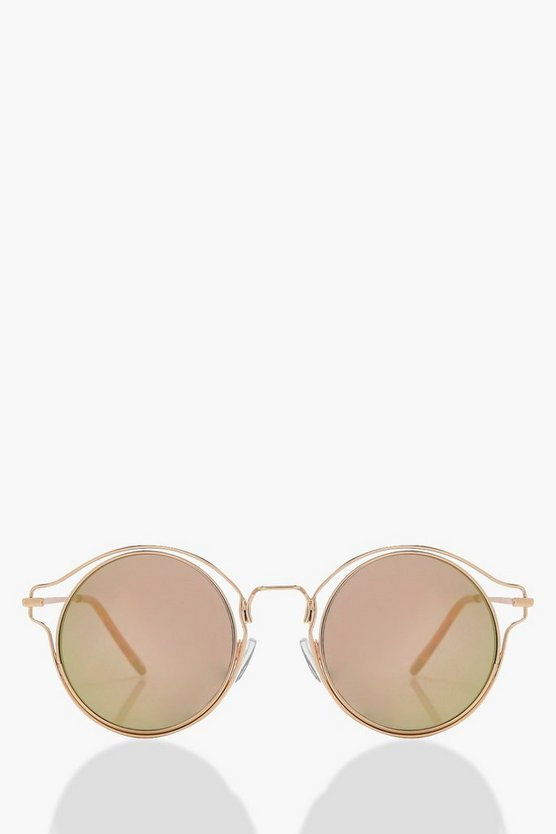 Ella Rose Double Frame Round Sunglasses