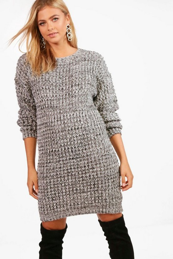 Charlotte Turn Up Cuff Soft Knit Slouchy Jumper