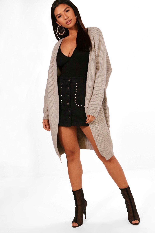 Boohoo Womens Nicole Chunky Maxi Batwing Cardigan | eBay