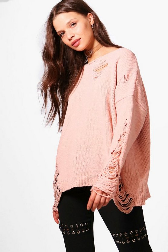 Emma Distressed Chenille Jumper