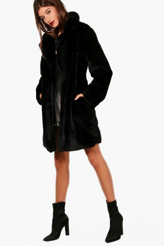 Kaley Faux Fur Midi Coat