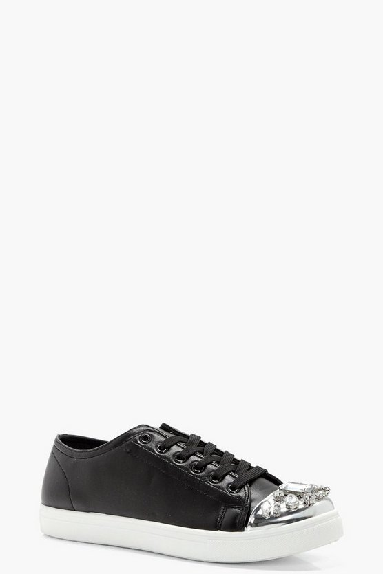 Emily Embellished Toe Cap Trainers