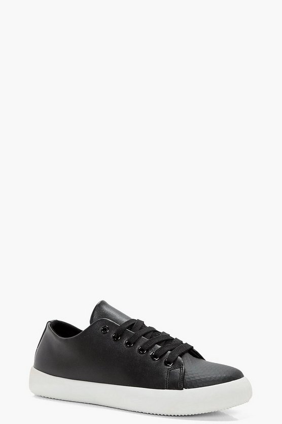 Womens Black Erin Lace Up Trainers
