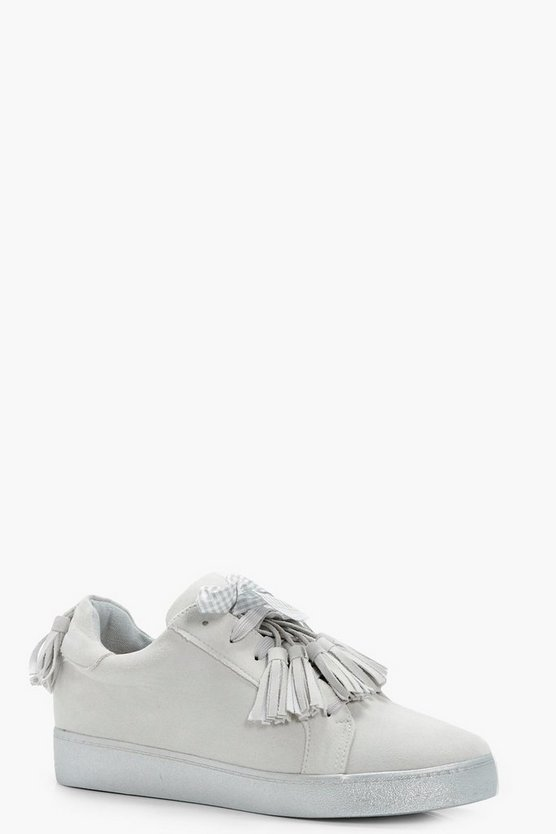 Jessica Tassel Trim Ribbon Trainers