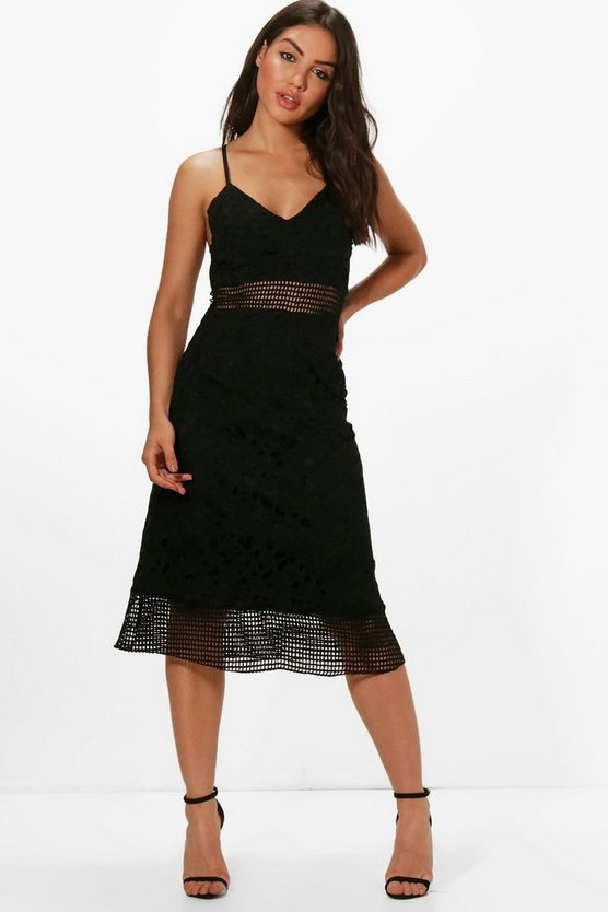 Boutique Dea Lace Midi Skater Dress