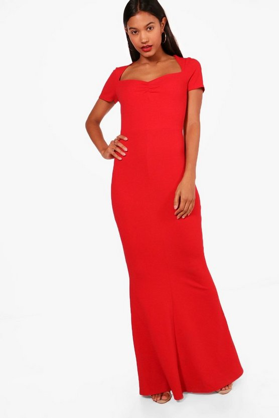 Ita Sweetheart Neck Fishtail Maxi Dress