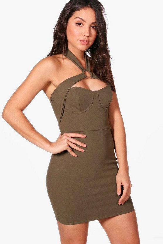 Kia Strappy Detail Bodycon Dress