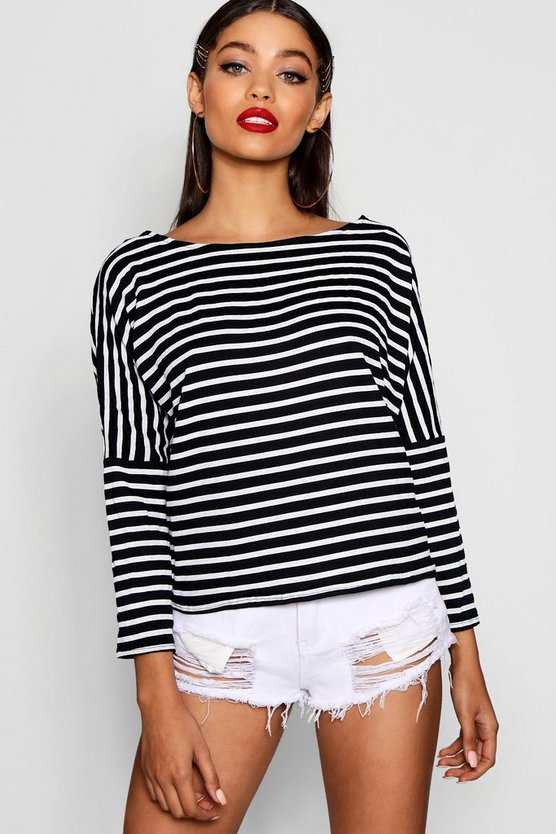 Stripe Slouchy T-Shirt