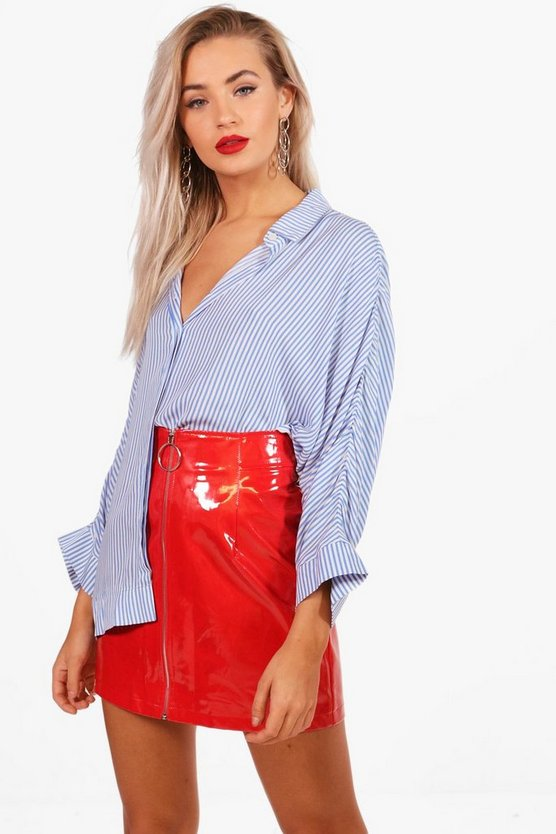Stripe Oversized Swing Shirt