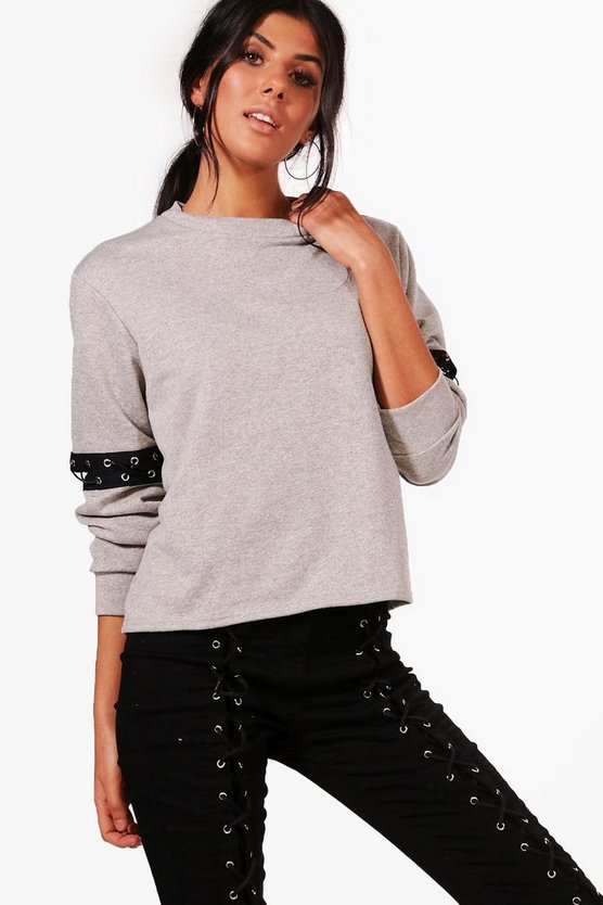 Taylor Lace Up Detail Sweat